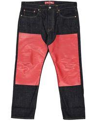 Junya Watanabe Gerade Jeans - Blau