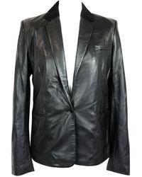 JOSEPH - Black Leather Jacket - Lyst
