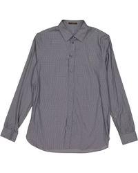 Louis Vuitton - Pre-owned Blue Cotton Shirts - Lyst
