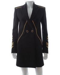 Versace - Black Wool - Lyst