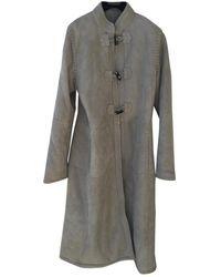 Vanessa Seward Shearling Coat - Gray