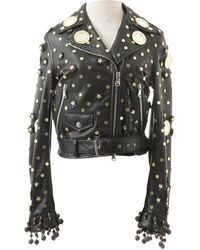 Moschino - Black Leather - Lyst