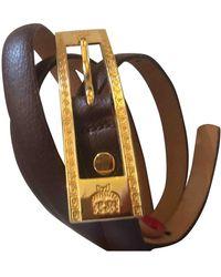 MCM Brown Leather Belts - Multicolour