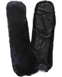 Moncler Black Rabbit Gloves
