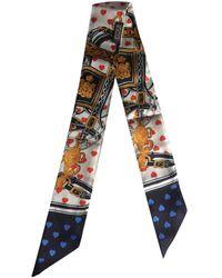 Hermès Twilly 86 Seide Rundhalsschal - Mehrfarbig