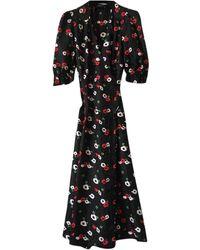 The Kooples Spring Summer 2019 Silk Maxi Dress - Multicolor
