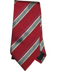Burberry Cravatta in seta rosso