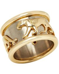 Cartier | Panthère Yellow Gold Ring | Lyst