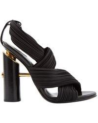 Tom Ford Black Cloth Sandals