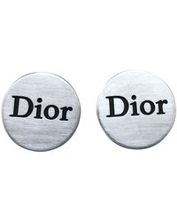 Dior Gemelos en metal plateado - Metálico