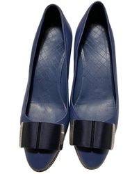 Chanel Leder Pumps - Blau