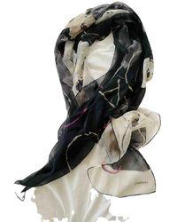 Chanel Pañuelo de Seda - Negro