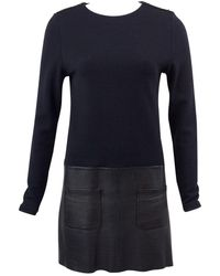 Vanessa Bruno - Black Wool Dress - Lyst