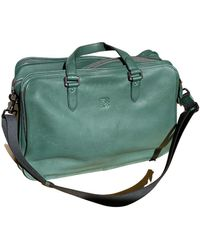Loewe Leather Travel Bag - Green