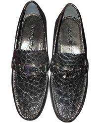 Louis Vuitton Mocassini in coccodrillo nero Monte Carlo