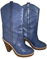 Marc Jacobs Leather Boots - Blue