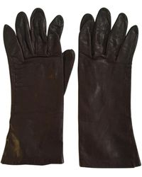 Dior Brown Leather Gloves
