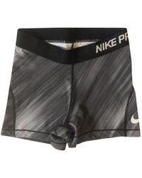 Nike Bermudas en poliéster negro