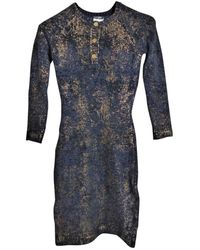 Chanel Cashmere Mid-length Dress - Blue