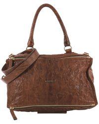 Givenchy - Pandora Brown Leather Handbag - Lyst