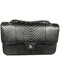 Chanel Timeless Python Crossbody Bag - Black