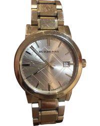 Burberry Gold Steel Watch - Metallic