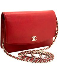 266aad974821 Chanel Pre-owned Wallet On Chain Patent Leather Crossbody Bag in ...