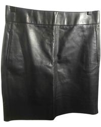Loewe Leather Mini Skirt - Black