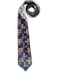 Lanvin - Pre-owned Vintage Blue Silk Ties - Lyst