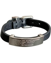 Marc By Marc Jacobs Leather Bracelet - Black