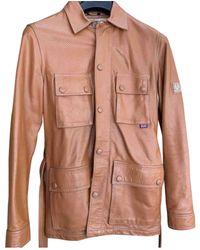 Belstaff Leather Biker Jacket - Orange