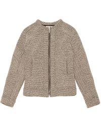 IRO - Grey Cotton Jacket - Lyst