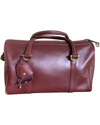 Cartier Vintage Burgundy Leather Handbag - Multicolor