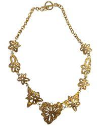 Christian Lacroix \n Gold Metal Necklaces - Metallic