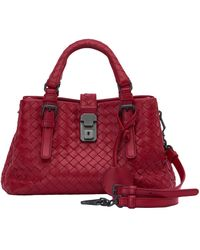 Bottega Veneta Roma Leder Handtaschen - Rot