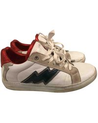 Zadig & Voltaire Zv1747 Flash Leather Sneakers - White