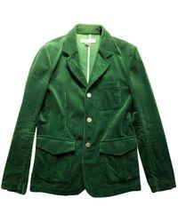 Comme des Garçons Velvet Suit - Green