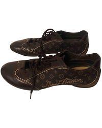 Louis Vuitton Leinen Sneakers - Braun