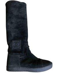 Chanel Snow Boots - Black