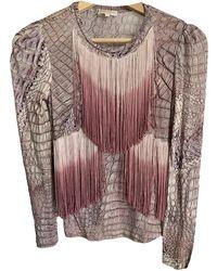 Roberto Cavalli Pink Cotton Top