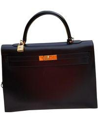 Hermès Borsa Kelly 35 in Pelle - Nero
