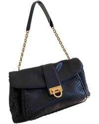Ferragamo Python Handtaschen - Schwarz
