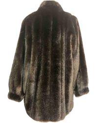Dior Faux Fur Coat - Brown