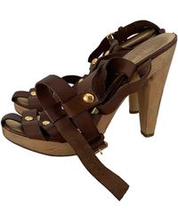 Michael Kors Leather Mules & Clogs - Brown