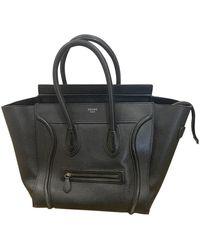 Céline Leder Handtaschen - Schwarz