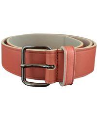 Jil Sander Orange Leather Belts