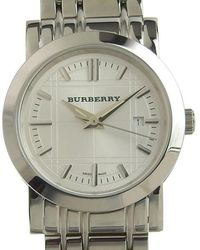 Burberry Silver Steel Watches - Metallic