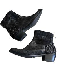 Zadig & Voltaire Leather Ankle Boots - Black
