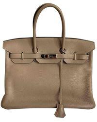 Hermès Birkin 35 Leder Handtaschen - Natur