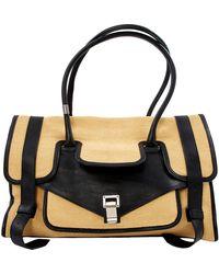 Proenza Schouler Ps1 Multicolour Wicker Handbag - Black